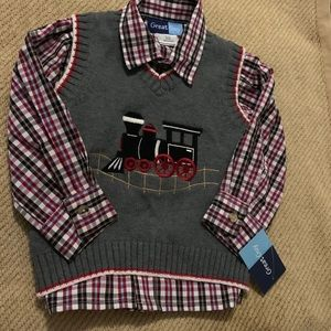 New Boys 2T Sweater Vest Set